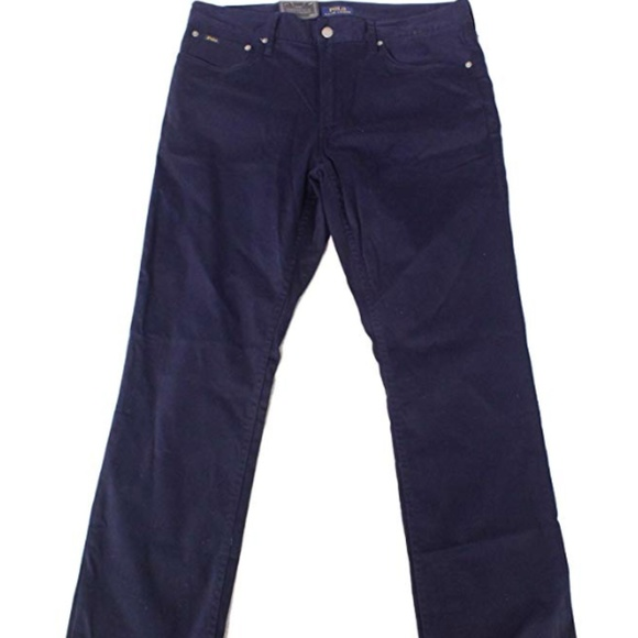 NWT Men/'s Polo Ralph Lauren Jeans The Prospect Straight Dark Blue W 36 L 30